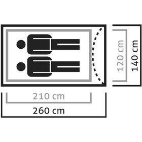 SALEWA Litetrek II Tiendas de campaña, light grey/cactus